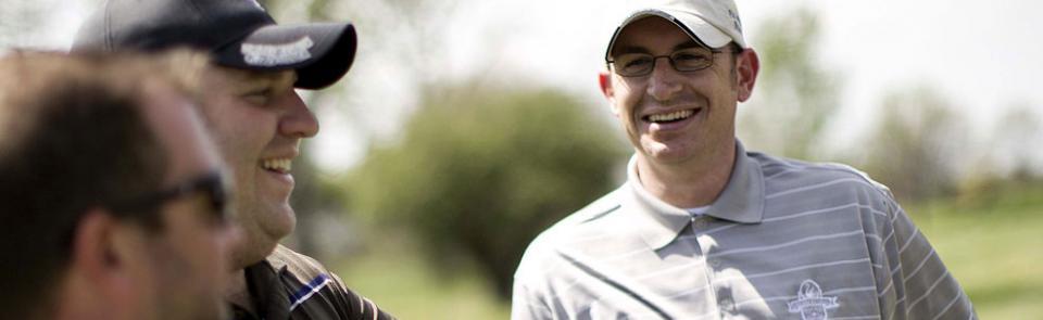 golfers enjoy themselves